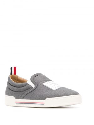 Thom Browne 035 Slip On Woman Trainer Med Grey