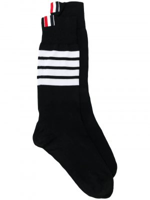Thom Browne Mid Calf Socks 4Bar Navy