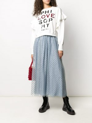 Red Valentino 4RL Lace Skirt Blue