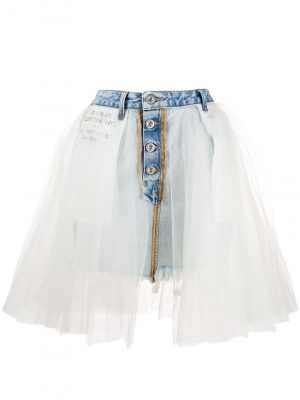 Unravel Project 20SS UWYF015R20DEN0024500 short Denim Mini Skirt White