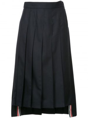 Thom Browne Pleated long Skirt Navy
