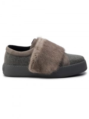 MaxMara TAULA  Shoes Fur Grey