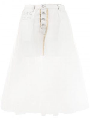 Unravel Project 20SS UWYF014R20DEN0010100 Denim Skirt White