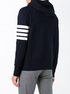 Thom Browne Men's Knit Hoodie Navy