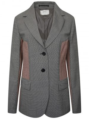 Sportmax TOTEM Checked Blazer Grey/Pink