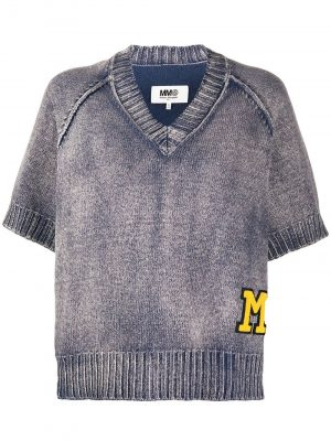 MM6 Knit Sweater Washed blue