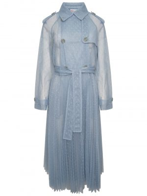 Red Valentino  Lace Trench Ash Blue