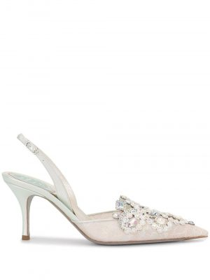 Rene Caovilla VENEZIANA slingback Light Grey Lace