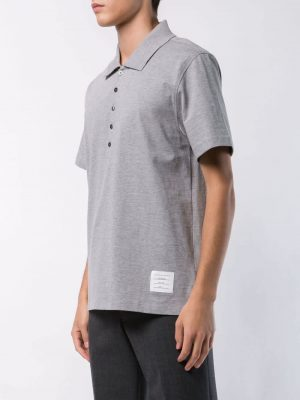 Thom Browne 21SS MJP052A-00042 055 Polo shirt Light Grey