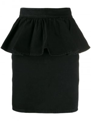 MSGM Denim skirt Black