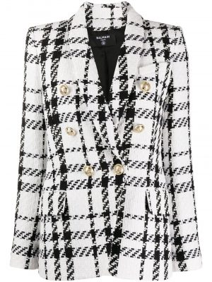 EAB Tweed blazer Black/White