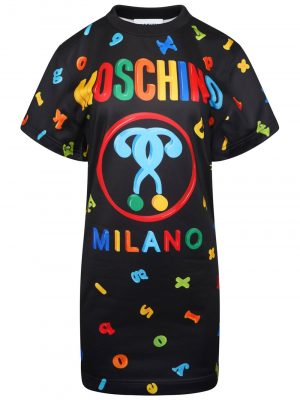 Moschino T-shirt Logo Dress Black