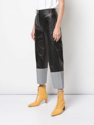 Tibi Denim Cuffed Pants Black