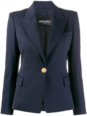 Blazer Single Botton Navy/Gold