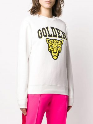 Golden Goose Sweatshirt Golden Jaguar/ White