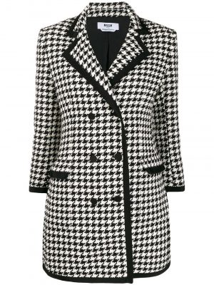 MSGM Tweed Blazer Black/White