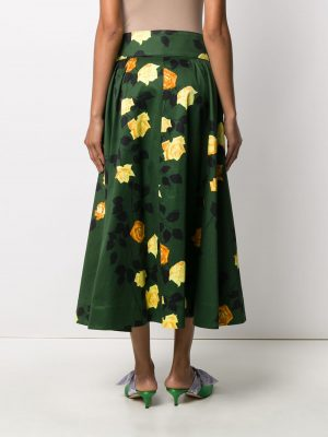 MSGM Gonna Skirt Green/Yellow