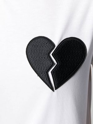 MSGM T-shirt break heart White