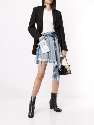 Unravel Project UWYF021R20DEN0014500  Denim Skirt Blue