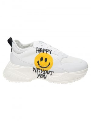 Philosophy Shoes White/Smile face