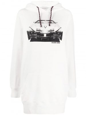 Golden Goose SS20 G36WP028 Hoodie White/ Cadillac