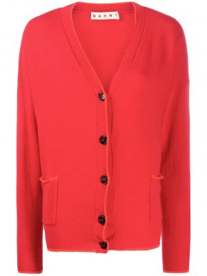 Marni Wool Cardigan Red
