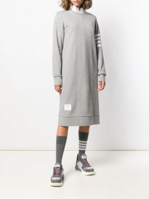 Thom Browne Sweater Dress 4Bar Light Grey