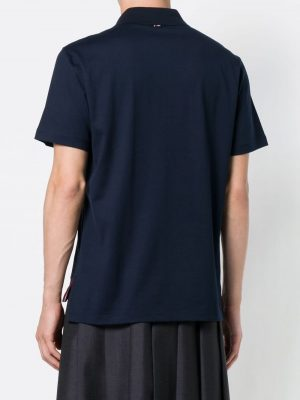 Thom Browne 415  Men Knit Polo shirt Navy