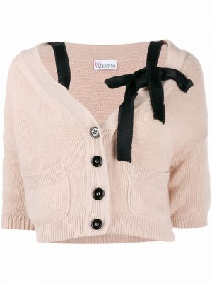 Red Valentino Off shoulder Cardigan Pink