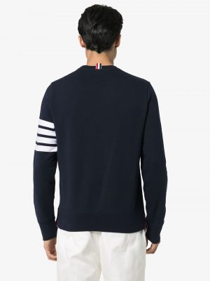 Thom Browne Men's Knit Sweatshirt Navy