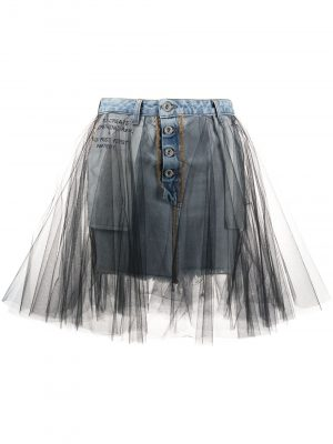 Short Denim Black Skirt