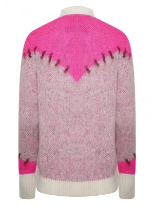 Golden Goose Wool Cardigan Pink/white
