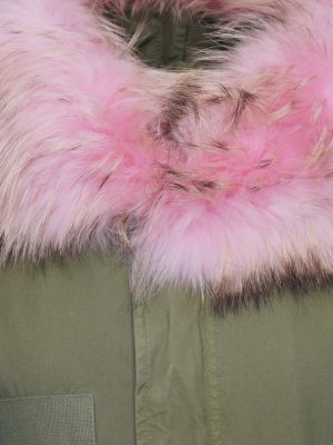 Mr Mrs Furs Italy 192 KFW Long Army/Pink Fur