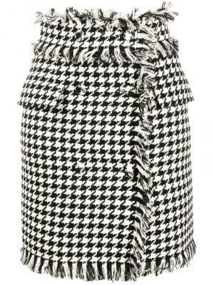 MSGM Tweed Skirt Black