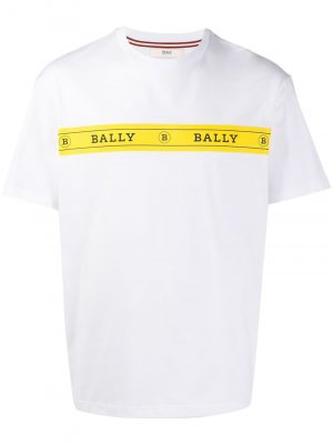 Bally MENS T-shirt White/Yellow