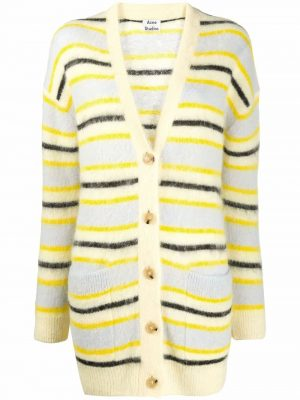 Acne Studios Striped Cardigan Yellow/multi