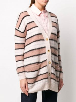Striped Cardigan Pink/multi