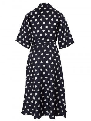 MaxMara ESPOSTO Dress Navy/White Spot