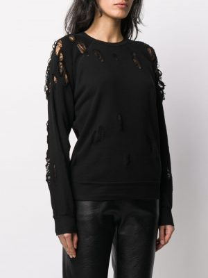 Unravel Project UWBA002R20FLE0011000 Sweater Black