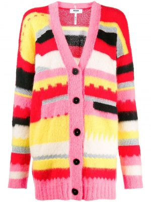MSGM STRIPED OVERSIZED CARDIGAN
