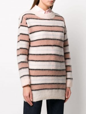 Striped Sweater Old Pink/Multi