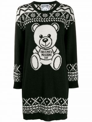 Moschino Sweater Dress Teddy Black