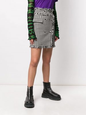 MSGM Tweed Skirt Black