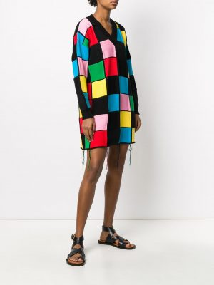 MSGM Dress Multi-Colour Black
