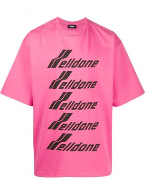 WE11DONE Logo T-shirt pink