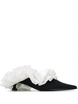 MM6 Sandals Black/White