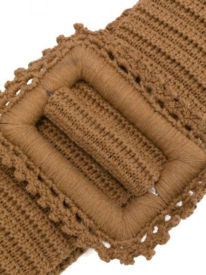 MSGM Knit Belt Camel