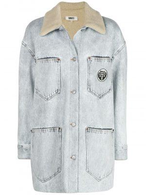 MM6 Denim Jacket Washed Grey