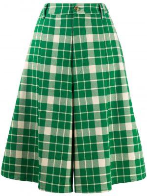 Checked Shorts Green