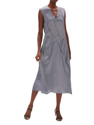 Sportmax Favola Checked Dress Blue